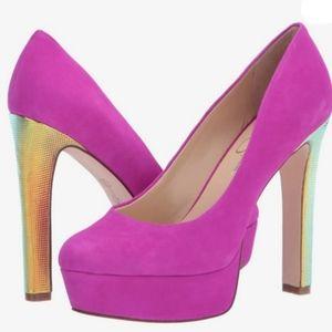 Jessica Simpson Nellah Hot Pink Platforms New 11